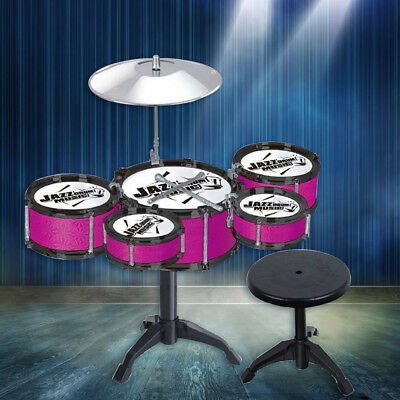 Kids Toy Drum Kit Play Set Drums Cymbal Musical Instrument Pedal Stool Stock • 14.99£