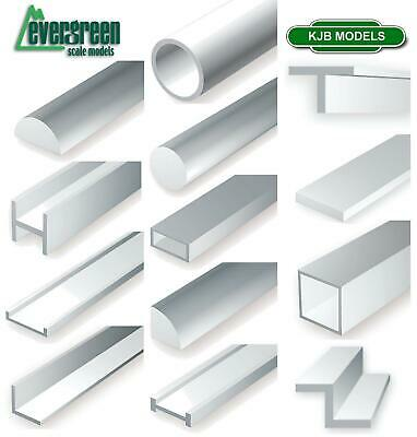 Evergreen Scale Models Styrene Plastic Strip Tubes Angles Rods Scratch Building • 5.99£