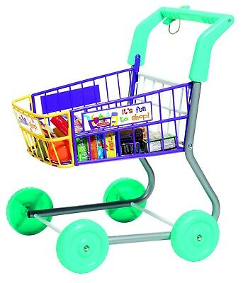 Toy Grocery Shopping Cart Trolley- Includes Play Food Childs Roleplay Toy  • 20.99£