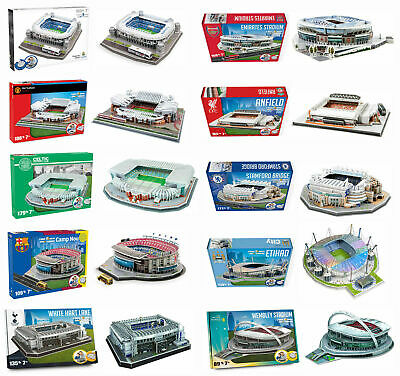 Football 3D Stadium Model Jigsaw Puzzle - Chelsea Liverpool Arsenal & More! • 25.99£