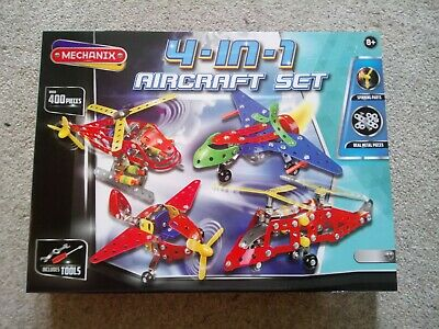 Mechanix 4-in-1 Aircraft Set, Excellent Condition, Original Box And Instructions • 12.99£