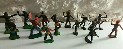 Toy Plastic Figures 1960's Mixed Lot X 14 • 20£