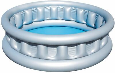 New Bestway Round Family Swimming Paddling Pool Outdoor Water Grey 1.52m X 43cm • 16.95£