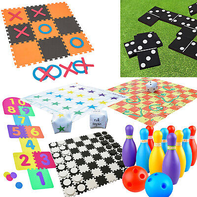 Jumbo Outdoor Garden Games Kids Family Fun Activity Giant Toys Bowling Dominoes  • 14.95£