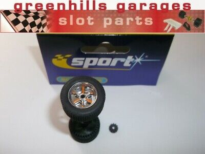 Greenhills Scalextric Accessory Pack For Ford GT40 Rear Axle,wheels,tyres,pin... • 9.89£
