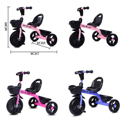 Children Tricycle 3 Wheels Boys Girls Kids Trike Ride-On Pedal Bike Kids Gifts • 27.99£