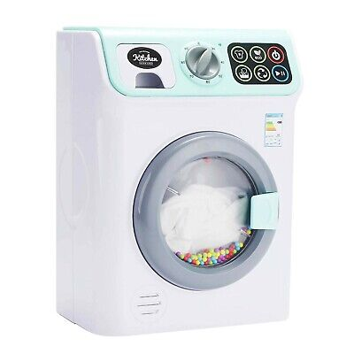 Kids Toy Play Kitchen Super Chef My First Washing Machine With Light & Sounds • 19.99£