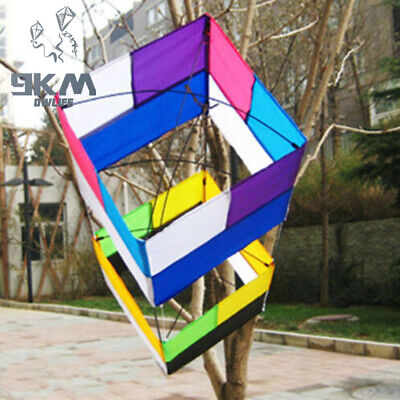 3D Box Single Line Kite With Handle 85cm*30cm Traditional For Beginners Kids • 20.99£