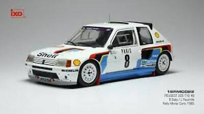 IXO 18RMC022 PEUGEOT 205 T16 Model Car Saby/Fauchille Monte Carlo Rally 85 1:18 • 71.30£