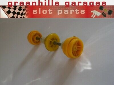 Greenhills Scalextric Scaletti Arrows Rear Axle & Wheels Yellow - Used - P4230 • 3.99£