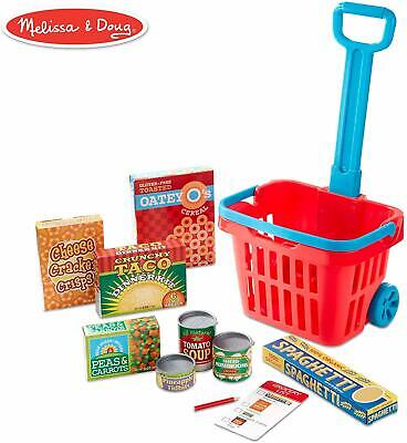 Kids Toy Gift Set Fill & Roll Grocery Basket Play Set, Play Food Melissa & Doug  • 22.97£