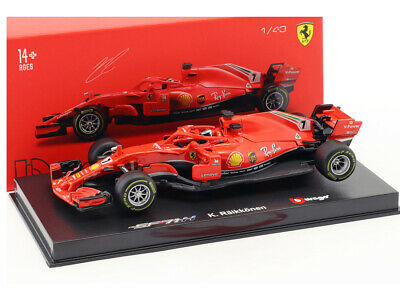Ferrari SF-71 H (Kimi Raikkonen - 2018) In Red (1:43 Scale By Bburago 18-36808R) • 18.99£