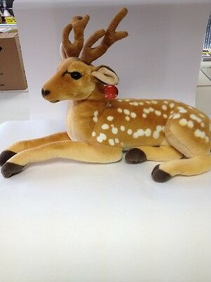 Xmas Decoration Toy - 60cms Large Christmas Cuddly Lying Down Fawn Reindeer  • 24.99£