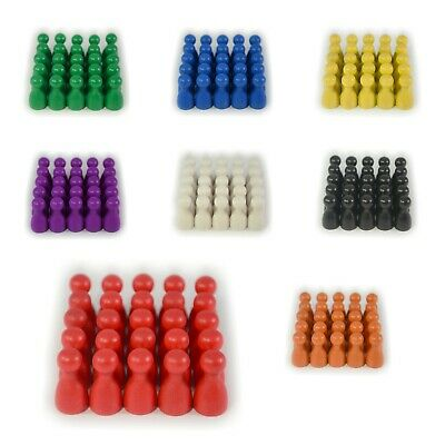 25 WOODEN PIECES Pawns HALMA LUDO UK Seller Game Classic Board Set Pack B05/06 • 4.85£