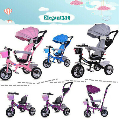 New 4 In 1 Kids Trike Bike Boys&Girls Push Along Tricycle Baby Buggy With Handle • 69.99£