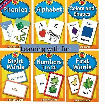 Children's Flash Cards Kids Educational Pre School Learning Brighter Child Gift • 4.85£