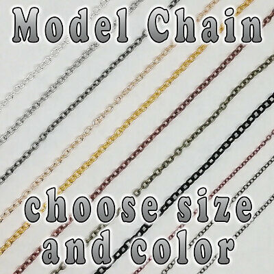 Hobby Model Chain - 3mm X 2mm - 1.5mm X 2mm - Choose Color - Per Meter • 1.45£