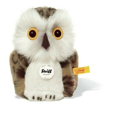 STEIFF Wittie Owl EAN 045608 12cm Grey Brindle Plush Gift New • 31.49£
