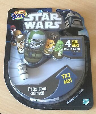 Star Wars Mighty Beanz 4 Pack BNIP Rare Collectable 2011 • 19.50£