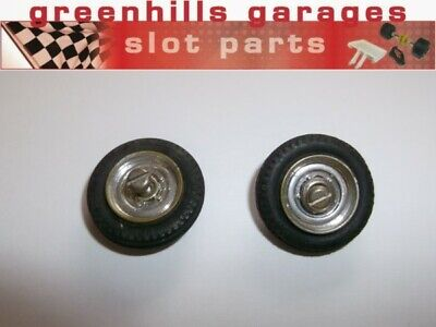 Greenhills Airfix Front Wheels With Tyres & Screws - Chrome - Used - P4430 • 4.99£