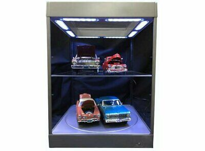 Large Display Case With LED Lights And Turntable In Silver (1:18 Scale By Triple • 99.99£