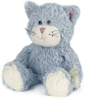 Warmies Cozy Plush Blue Cat Fully Microwavable Toy • 15.18£