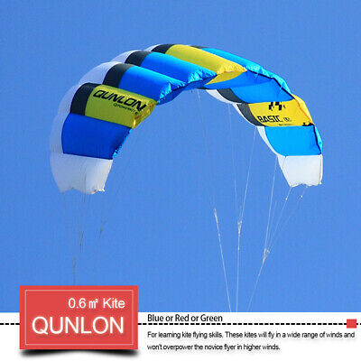0.6sqm Sports 2 Line Traction Kites Outdoor Kitesurfing & Power With Flying Set • 38.99£