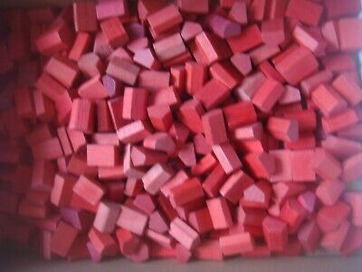 15 Original Vintage Monopoly Wooden Wood Red Hotels Hotel Spares Replacement  • 3.99£