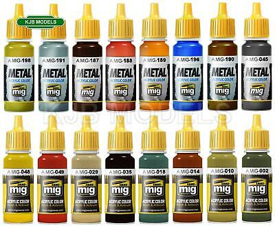 Ammo Mig 17ml Acrylic Paints Choice Of Colours - 176 To Choose From • 3.48£