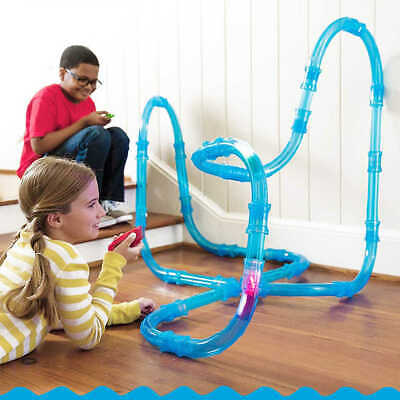 Tube Racer Deluxe Racing Track Car Set Kids Pack RC Toy Fast LED Car Hot Craze • 54.99£