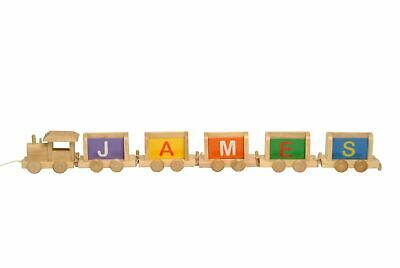 Vinsani Personalised Name Wooden Alphabet Train Letters • 1.99£