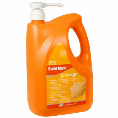 Swarfega Orange Hand Cleaner Pump Top Bottle 4 Litre - Swasor4lmp • 27.49£