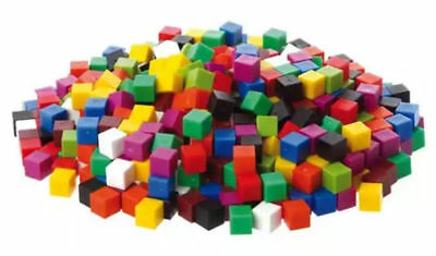 Counting Cubes New Pack-100 1cm Coloured Plastic Cubes For Arithmetic & Volume  • 4.50£