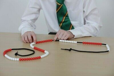 Bead String With 100 Beads For Numeracy, Counting, Singapore Maths, Montessori • 6.95£