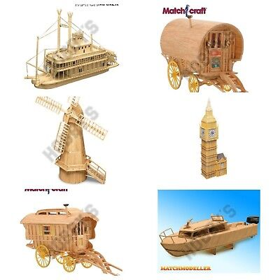 Matchstick Model Kits  NEW Many Choices Available 'Same Day Dispatch* • 16.95£
