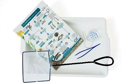 Pond Dipping Kit: Bug Pot, Dipping Net & Pond Tray + Field Guide  • 12.95£