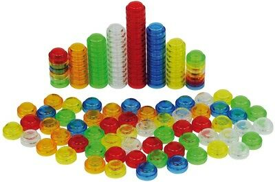 Translucent Stackable Counters Plastic Pk 60 Math Resource / For Light Table • 4.95£