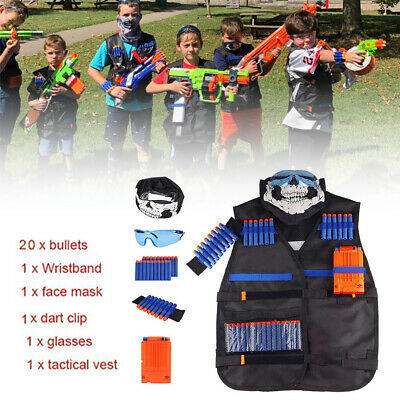 Outdoor Kid Boy Tactical Game Vest Suit Kit For Nerf Guns N-Strike Elite Series • 9.98£