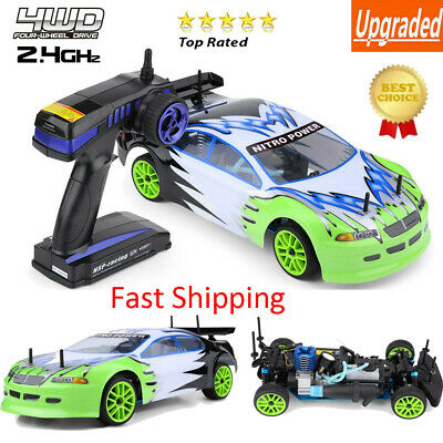 HSP 94102 Remote Control Car 1:10 Scale 4WD Gas Powered RC Cross Country Vehicle • 161.43£