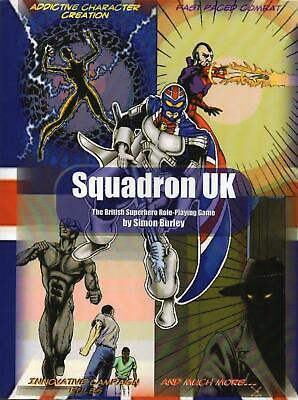 RARE - SQUADRON UK (RPG) The British Superhero Roleplaying Game Core Rulebook • 39.99£