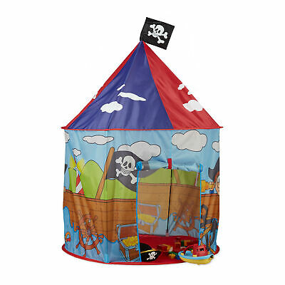 Pop Up Play Tent For Boy, Pirate Teepee With Flag, Playhouse • 37.90£