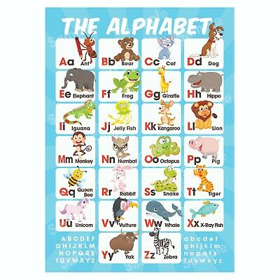 ABC Alphabet Educational Poster, Pre-School Early Learning, Homeschooling Kids • 3.99£