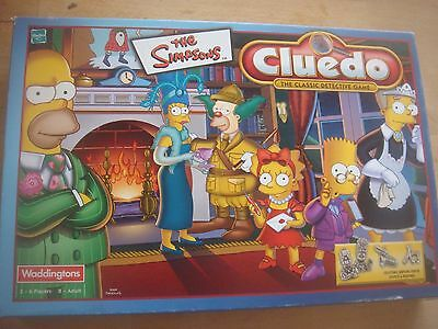 Waddingtons The Simpsons Cluedo Spare Replacement Cards Detective Pad Envelope  • 2.49£