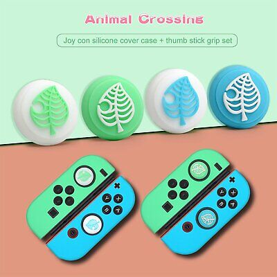 4Pcs Thumb Grips Cap +Silicone Handle Shell Skin Cover For Switch Joycon Console • 4.18£