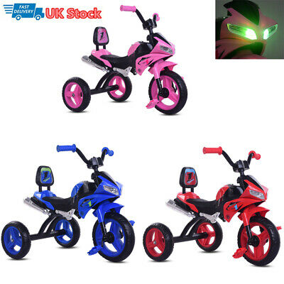 Kid My First Trike Boy Girl Ride On Bike Folding Tricycle 3 Wheeler Wheel Toy • 32.90£