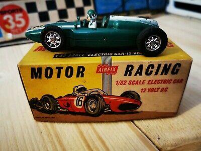 Vintage Scalextric Airfix MRRC Green Cooper F1 Slot Working Boxed • 34.99£