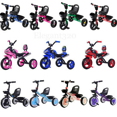 New 3 Wheel Baby Trike Tricycle Kid Boy Girl Ride On Pedal Bike 3 Wheeler Toy • 34.99£