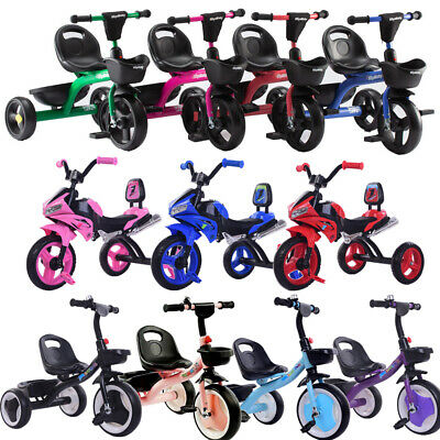 Kid Children My First Pedal Trike Bike Three Wheel Ride On Outdoor Toy Stroller • 27.99£