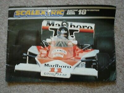 VINTAGE OBSOLETE SCALEXTRIC CATALOGUE 1977. 18th EDITION. • 5.49£