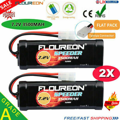 2X FLOUREON 7.2V 3500mAh Ni-MH RC Battery Female-tamiya For RC Car Truck Traxxas • 32.99£